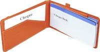 Eco-Leatherette Premium Paper Cheque Book Holder(Set Of 1, Brunt Oramge)