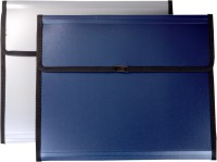 KEA Plastic Polypropylene Conference File(Set Of 2, Blue, Grey)