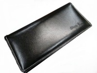 AARTI Leather Cheque Book Holder(Set Of 1, Black)