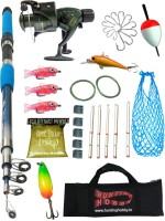 Hunting Hobby OSP Fishing 7Ft Rod,Reel,Accessories Complete Kit Red, Blue, Green Fishing Rod(210 cm, 0.17 kg, Red, Blue, Green)
