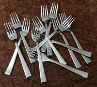 Bharat Stainless Steel Dessert Fork Set(Pack of 12)