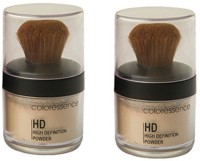 Coloressence High Defination Powder (Packof2) Foundation(Dusky, IvoryBeige, 10 g)