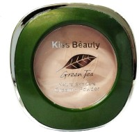 Out Of Box Kiss Beauty Green Tea Cream With Powder Compact 25 g Foundation(White, 25 g)