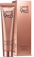 Lakme 9 to 5 Weightless Mousse  Foundation(Rose Ivory, 29 g)