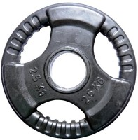 Biceps Triceps Premium Rubber Black Weight Plate(2.5 kg)