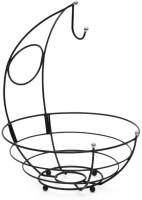Disha Marketing Kangaroo Carbon Steel Fruit & Vegetable Basket(Black)