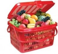 Nayasa Plastic Fruit & Vegetable Basket(Multicolor)