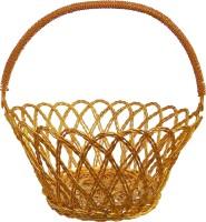 Decor8 Aluminium Fruit & Vegetable Basket(Gold)