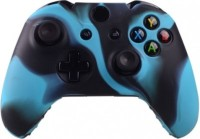 microware Xbox One Controller Silicone Skins Cover Sleeve  Gaming Accessory Kit(Blue, Black, For Xbox One)