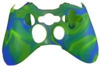 microware Controller Silicone Skins Cover Sleeve  Gaming Accessory Kit(Green, Blue, For Xbox 360)