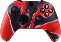 microware Xbox One Controller Silicone Skins Cover Sleeve  Gaming Accessory Kit(Red, Black, For Xbox One)