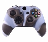 microware Controller Silicone Skins Cover Sleeve  Gaming Accessory Kit(Brown, White, For Xbox One)