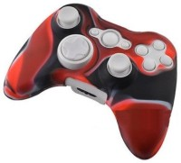 microware Controller Silicone Skins Cover Sleeve  Gaming Accessory Kit(Red, Black, For Xbox 360)