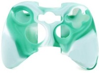 microware Controller Silicone Skins Cover Sleeve  Gaming Accessory Kit(Green, White, For Xbox 360)