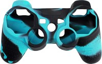 microware DualShock 3 Silicone Sleeve  Gaming Accessory Kit(Blue & Black, For PS3)