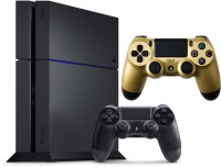 SONY PlayStation 4 (PS4) 1 TB 1000 GB with Extra Golden Controller(Jet Black)