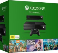 Microsoft Xbox One 500 GB & Kinect with Kinect Sports Rivals, Dance Central and Zoo Tycoon(Black)