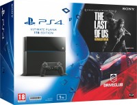 SONY PlayStation 4 (PS4) 1 TB with The Last of Us Remastered and Drive Club(Black)