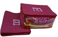 Indi Bargain Printed Quilted 3 Layerd Set Of 2 Saree Cover(Maroon)