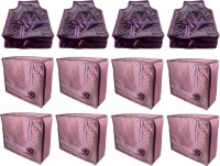 Annapurna Sales Designer 5 Inch Height Front Transparent Large Saree and Blouse Cover - Set of 12 Pcs. Purple00379(Purple)