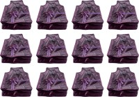 Annapurna Sales Designer 4 Inch Height Front Transparent large Blouse Cover - Set of 12 Pcs. Purple00373(Purple)