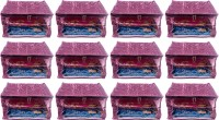 Annapurna Sales Designer 9 Inch Height Side Transparent Big Saree Covers - Set of 12 Pcs. Purple00223(Purple)