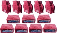 Annapurna Sales Designer 5 Inch Height Side Transparent Large Saree and Blouse Cover - Set of 12 Pcs. Maroon00316(Maroon)