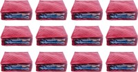 Annapurna Sales Designer 5 Inch Height Side Transparent Large Saree Cover - Set of 12 Pcs. Maroon00309(Maroon)