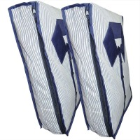 Bagathon India Striped Mens' Blue Shirt Cover - Set of 2 MBSC01(Blue)