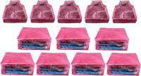 Annapurna Sales Designer 5 Inch Height Large Saree and Blouse Cover - Set of 12 Pcs. Pink00344(Pink)
