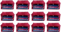 Annapurna Sales Designer 9 Inch Height Side Transparent Big Saree Covers - Set of 12 Pcs. Maroon00217(Maroon)