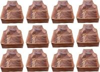 Annapurna Sales Designer 4 Inch Height Front Transparent large Blouse Cover - Set of 12 Pcs. Golden00353(Golden)