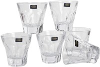 Bohemia Apollo Crystal Whisky Glass Set(250 ml, Clear, Pack of 6)