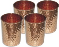 Veda Home & Lifestyle GLST146 Glass Set(Copper, 1000 ml, Brown, Pack of 4)
