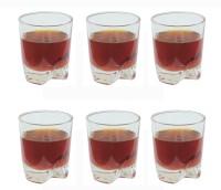 Aditya A10618S Glass Set(Glass, 290 ml, Clear, Pack of 6)