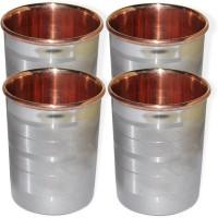 DakshCraft DS123 Glass Set(Copper, 248 ml, Silver, Pack of 4)