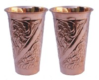 Veda Home & Lifestyle GLST154 Glass Set(Copper, 1500 ml, Brown, Pack of 2)