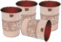 Veda Home & Lifestyle GLST150 Glass Set(Copper, 1000 ml, Brown, Pack of 4)