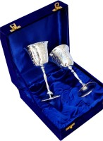 Folkshopz 2022 Glass Set(Silver Plated, 300 ml, Silver, Pack of 2)