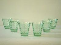 Foyer 101396 Glass Set(Glass, 50 ml, Green, Pack of 6)