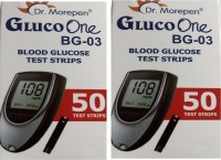Dr. Morepen Gluco One Monitoring System 50 Test Strips (Pack of 2) Glucometer(Blue)