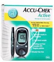 ACCU-CHECK Active Glucose Monitor Only Glucometer(Black)