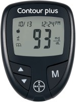 BAYER Contour Plus Glucometer(Black)