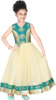 Trendyy Girls Flared Gown(Green)