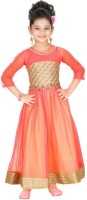 Trendyy Girls Straight Gown(Pink)
