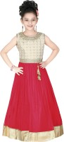 Trendyy Girls Ball Gown(Red)