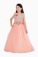 Betty Flared Gown(Orange)