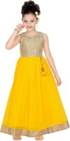 Trendyy Girls Ball Gown(Gold)