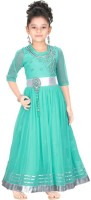 Trendyy Girls Straight Gown(Green)