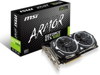MSI NVIDIA GTX 1080 ARMOR 8G OC. 8 GB GDDR5X Graphics Card(Black)